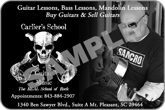 Carliers School of Music local Charleston online Gift Card