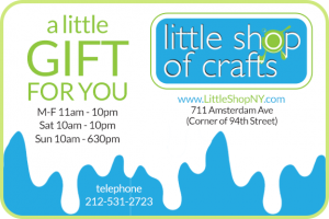 Little Shop of Crafts local New York online Gift Card