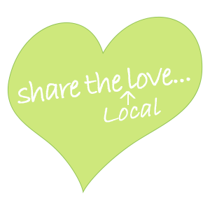 local gift cards, share the love heart logo